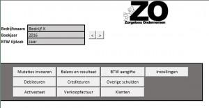 Dashboard ZO Boekhouden